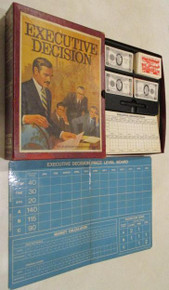 Vintage Board Games - Executive Decision - 1971