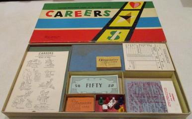 Vintage Board Games - Careers - 1958
