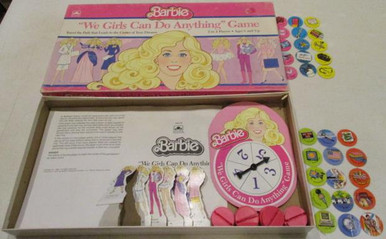 Vintage Board Games - Barbie - We Girls Can Do Anything Game - 1986