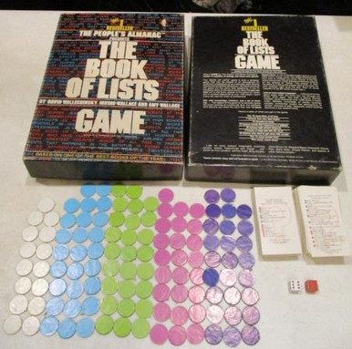 Vintage Board Games - Book of Lists Game - 1979