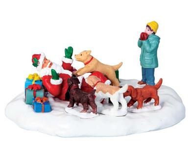 63275 - Puppies Love Santa - Lemax Table Pieces