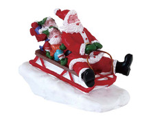 72549 - Sledding with Santa - Lemax Figurines