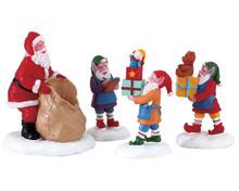 72553 - Present Procession, Set of 4 - Lemax Figurines