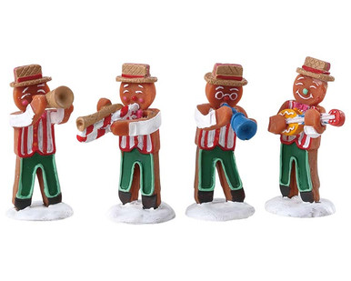 72562 - Gingerbread Jazz, Set of 4 - Lemax Sugar N Spice Figurines