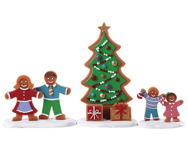 72565 - Decorating the Tree, Set of 3 - Lemax Sugar N Spice Figurines