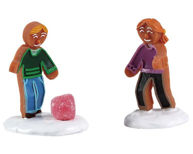 72568 - Gumdrop Games, Set of 2 - Lemax Sugar N Spice Figurines