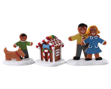 72569 - Fido's New House, Set of 3 - Lemax Sugar N Spice Figurines