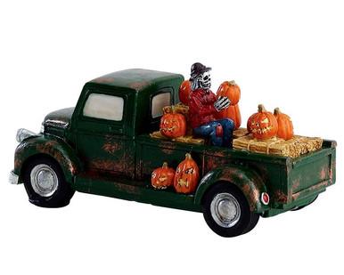 73318 - Pumpkin Pickup Truck - Lemax Spooky Town Accessories
