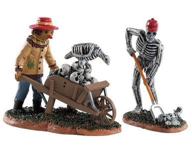 82573 - Ghoulish Gardeners, Set of 2 - Lemax Spooky Town Figurines
