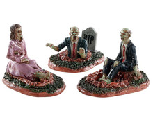 82574 - Deadly Conversation, Set of 3 - Lemax Spooky Town Figurines