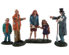 82576 - Buying a New Home, Set of 4 - Lemax Spooky Town Figurines