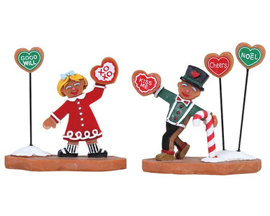 82593 - Cookie Exchange, Set of 2 - Lemax Sugar N Spice Figurines