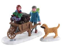 82596 - Gathering Kindling, Set of 2 - Lemax Figurines