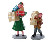 82610 - Christmas Rush, Set of 2 - Lemax Figurines