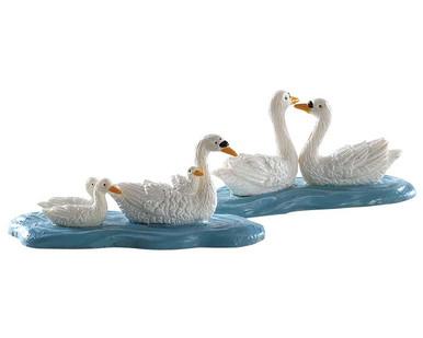 82613 - Swans, Set of 2 - Lemax Figurines