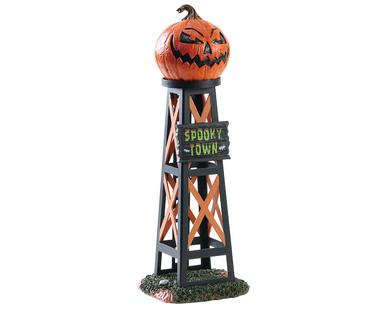83341 - Evil Pumpkin Water Tower - Lemax Spooky Town Accessories
