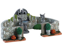 83350 - Grey Gargoyle Gardens, Set of 6 - Lemax Spooky Town Accessories