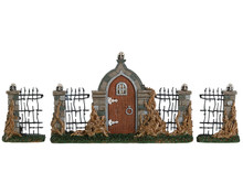 84343 - Bramble Gate, Set of 3 - Lemax Spooky Town Accessories