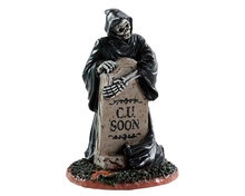 84345 - Grim Reaper Tombstone - Lemax Spooky Town Accessories