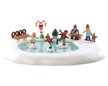 84352 - Gingerbread Skating Pond, Battery-Operated (4.5v) - Lemax Sugar N Spice Accessories