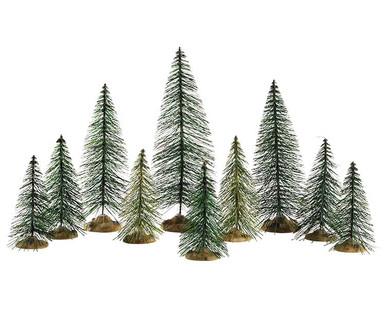 84358 - Needle Pine Trees, Set of 10 - Lemax Trees