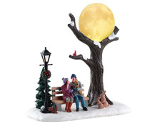 84359 - Christmas Moon, Battery-Operated (4.5v) - Lemax Table Pieces