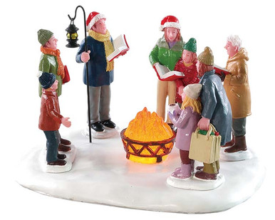 84362 - Toasty Caroling, Battery-Operated (4.5v) - Lemax Table Pieces