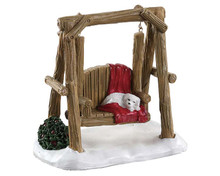 84363 - Rustic Log Swing - Lemax Misc. Accessories