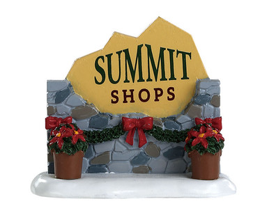 84364 - Summit Sign - Lemax Misc. Accessories