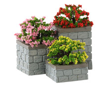 84380 - Flower Bed Boxes, Set of 3 - Lemax Misc. Accessories