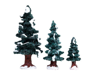 84407 - Christmas Evergreen Tree, Set of 3 - Lemax Misc. Accessories