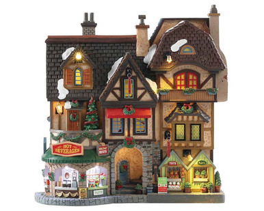 85315 - River Moor's Christmas Street Festival, Battery-Operated (4.5v) - Lemax Facades