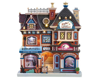 85317 - The Music Corner, Battery-Operated (4.5v) - Lemax Facades