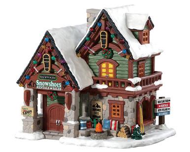 85328 - Backwoods Snowshoe Rental Shop - Lemax Vail Village