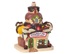 85382 - Delightful Dip Chocolate Shop, Battery-Operated (4.5v) - Lemax Sugar N Spice Houses