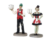 82621 - Casino Figurine, Set of 2 - Lemax Spooky Town Figurines