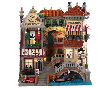 85318 - Venice Canal Shops, Battery-Operated (4.5-Volt) - Lemax Facades