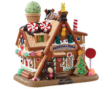 85436 - Gummies & More Candy Store, Battery-Operated (4.5-Volt) - Lemax Sugar N Spice Houses