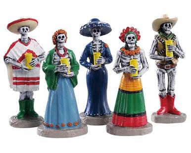 92729 - Dia De Los Muertos Vigil, Set of 5 - Lemax Spooky Town Figurines