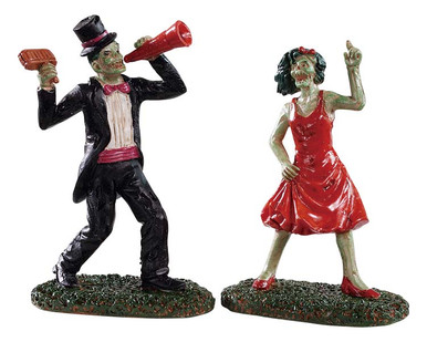 92730 - The Dancing Dead, Set of 2 - Lemax Spooky Town Figurines