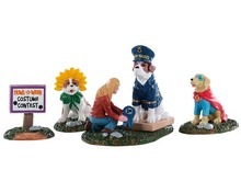 92731 - Howl-O-Ween Contest, Set of 4 - Lemax Spooky Town Figurines