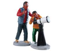 92744 - Stargazing, Set of 2 - Lemax Figurines