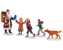 92745 - Papa Christmas!, Set of 5 - Lemax Figurines