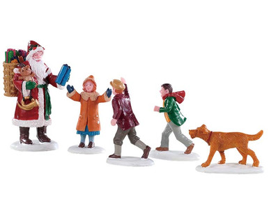 92745 - Papa Christmas!, Set of 5 - Lemax Figurines