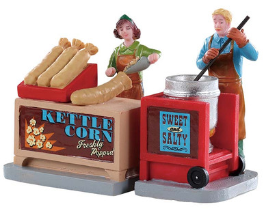 92746 - Kettle Corn Stand, Set of 2 - Lemax Figurines