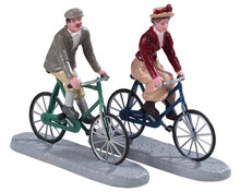 92763 - Bike Ride Date, Set of 2 - Lemax Figurines