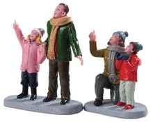 92770 - People Admiring Fireworks, Set of 2 - Lemax Figurines