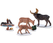 92771 - Wild Animals, Set of 5 - Lemax Figurines