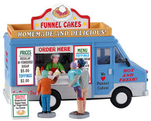 93420 - Funnel Cakes Food Truck, Set of 4 - Lemax Table Pieces