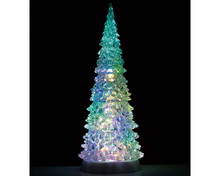 94510 - Crystal Lighted Tree, 4 Color Changeable & Color Transformation, XL, Battery-Operated (4.5-Volt) - Lemax Trees